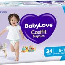 AU BabyLove Cosifit Nappies, Size 4 (9-14kg), 102 Nappies (3x 34 pack)