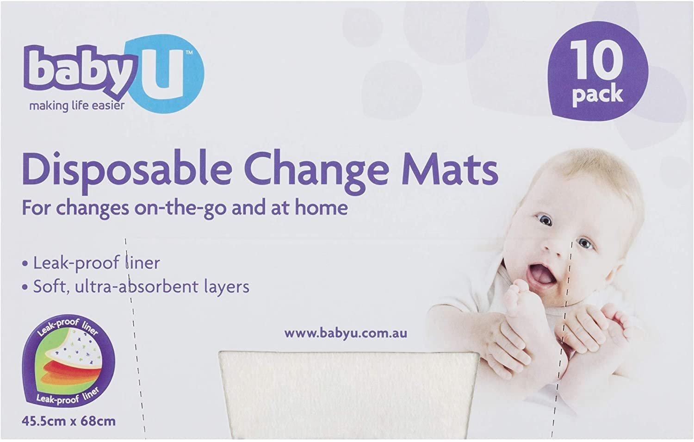 AU Baby U Disposable Change Mats, 10 count (5095-SRT)