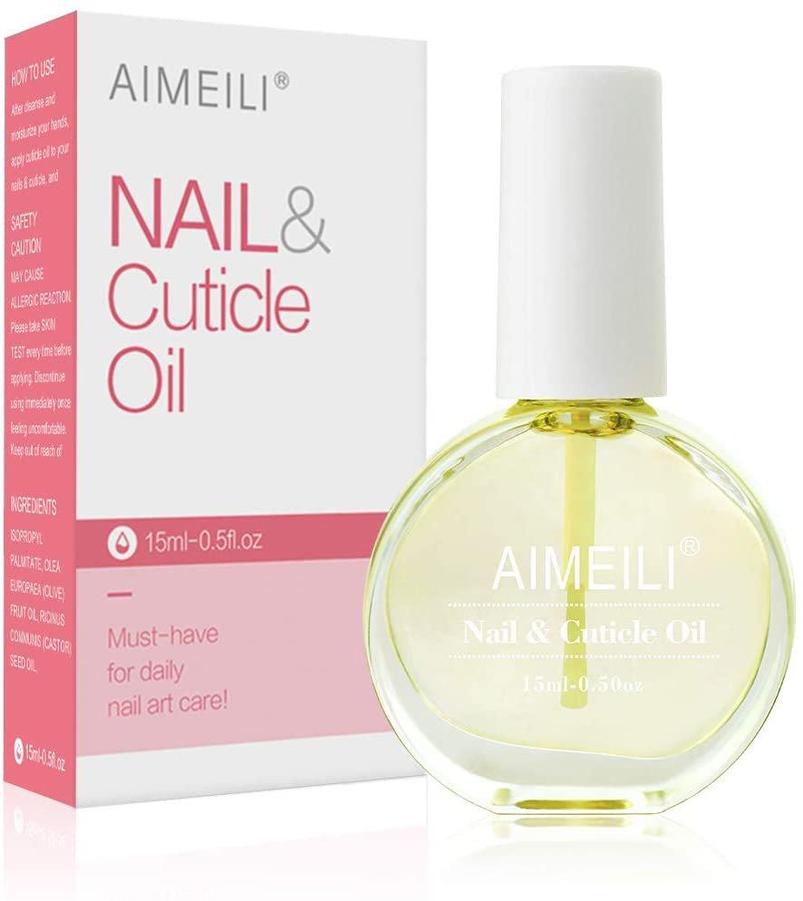 AU AIMEILI Natural Nail & Cuticle Oil, Cuticle Skin Care Nail Moisturizer 15ml