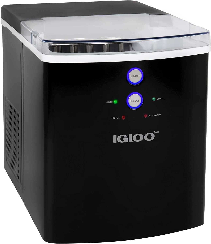 Igloo ICEB33BK Large-Capacity Automatic Portable Electric Countertop Ice Maker Machine