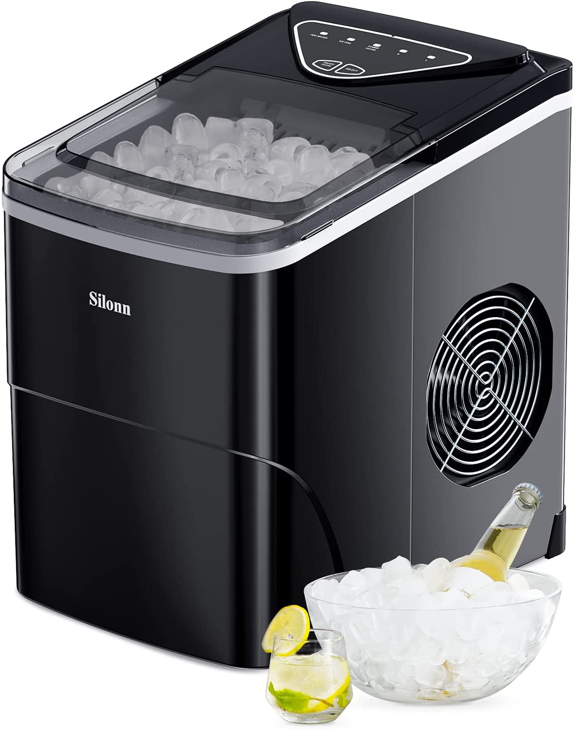 Silonn Ice Makers Countertop Portable Ice Maker Machine