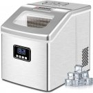 Euhomy Ice Maker Machine Countertop Portable Compact Ice Cube Maker (Sliver)