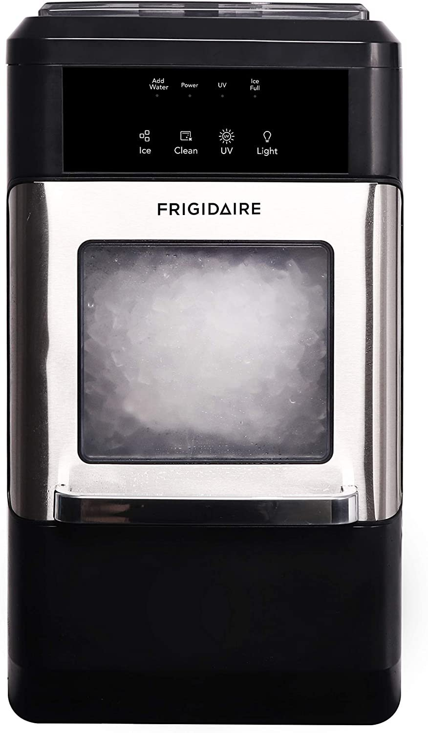 FRIGIDAIRE EFIC235-AMZ Countertop Crunchy Chewable Nugget Ice Maker, 44lbs per Day