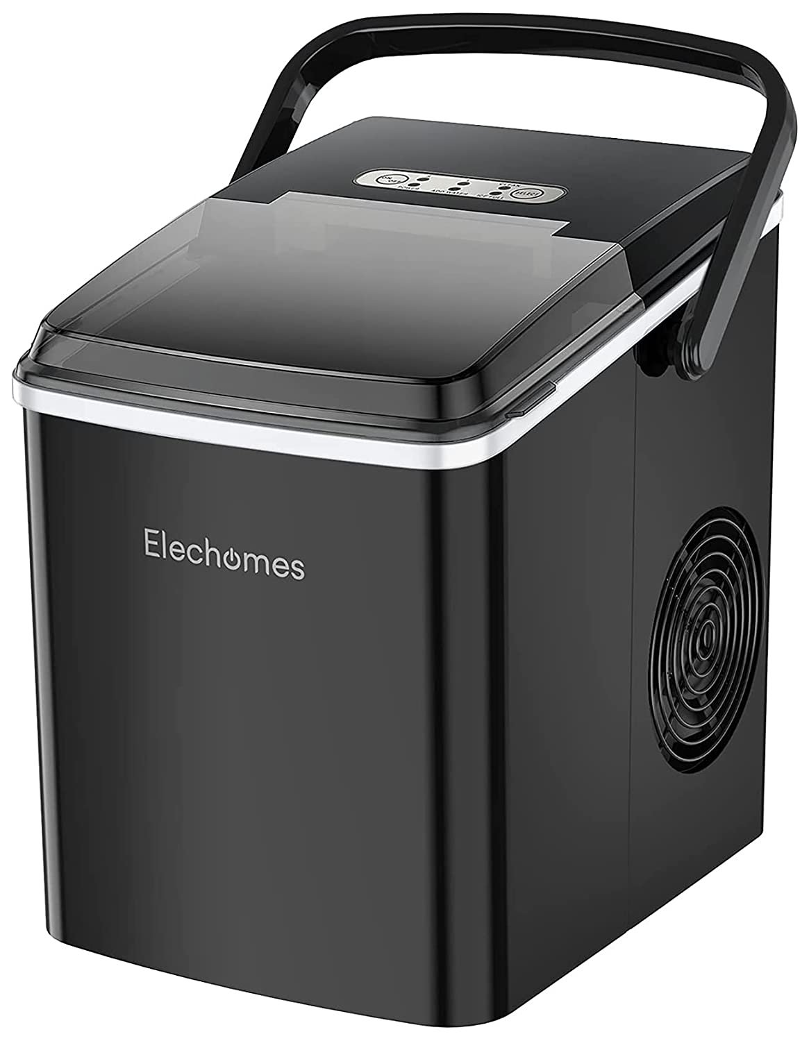 Countertop Ice Maker Machine, Elechomes Portable Ice Maker with Handle