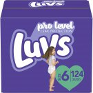 Diapers Size 6, 124 Count - Luvs Ultra Leakguards Disposable Baby Diapers