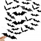 DIYASY Bats Wall Decor,120 Pcs 3D Bat Halloween Decoration Stickers