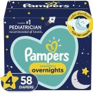 Pampers Diapers Size 4, 58 Count - Swaddlers Overnights
