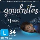 Goodnites Nighttime Bedwetting Underwear, Boys' L (68-95 lb.), 34ct, FSA/HSA-Eligible