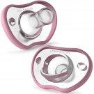 Nanobebe Baby Pacifiers 0-3 Month - Orthodontic 2pk,Pink