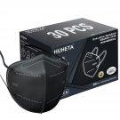 HUHETA KN95 Face Masks, 30 Packs Individually Wrapped, 5-Ply Breathable & Comfortable Safety Mask
