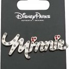 Disney Pin - Minnie Mouse Gemmed Name Pin