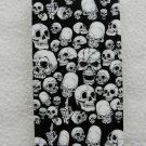 IPHONE5 HARD COVER CASE GLOSSY SKULLS BLACK&WHITE