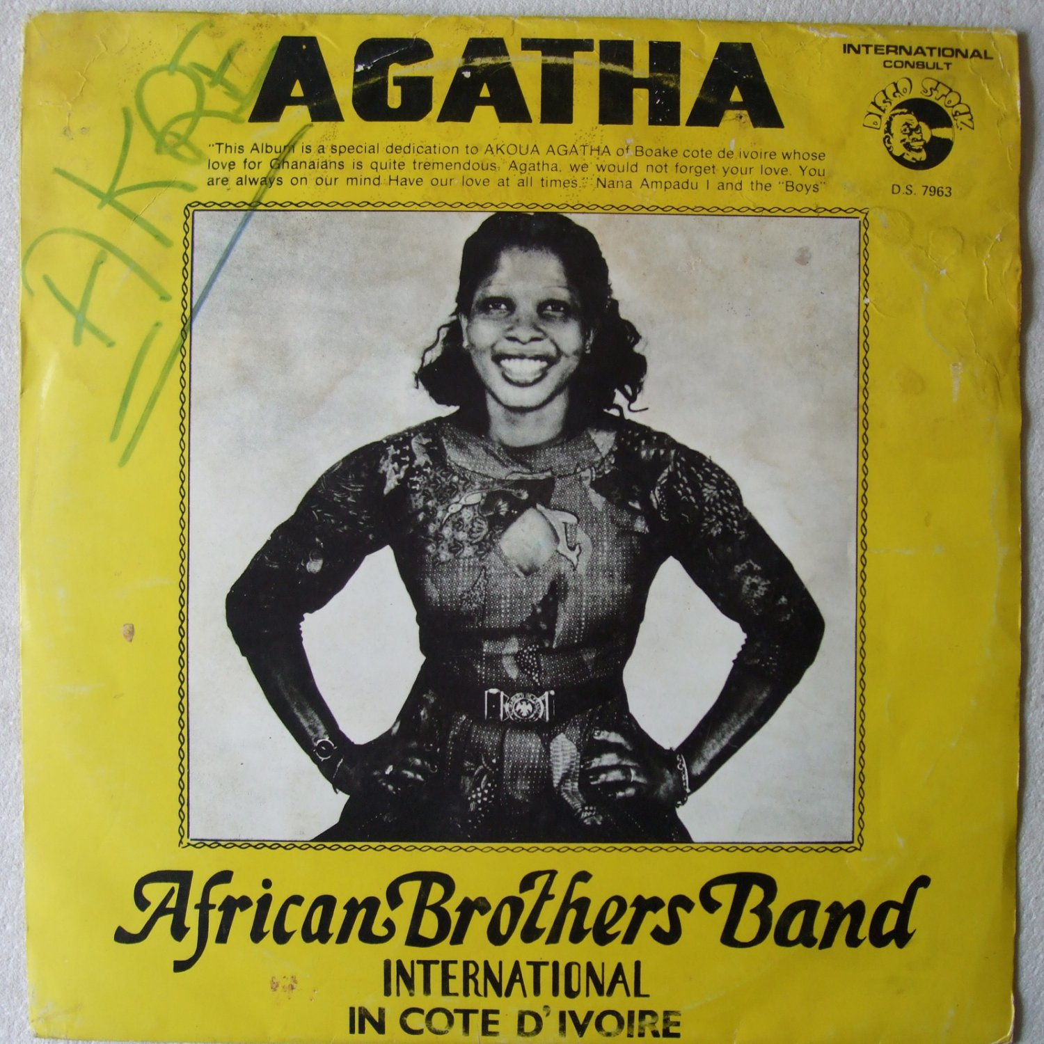 AFRICAN BROTHERS agatha LP BEAUTIFUL DEEP HIGHLIFE MUST HAVE GHANA � mp3 listen