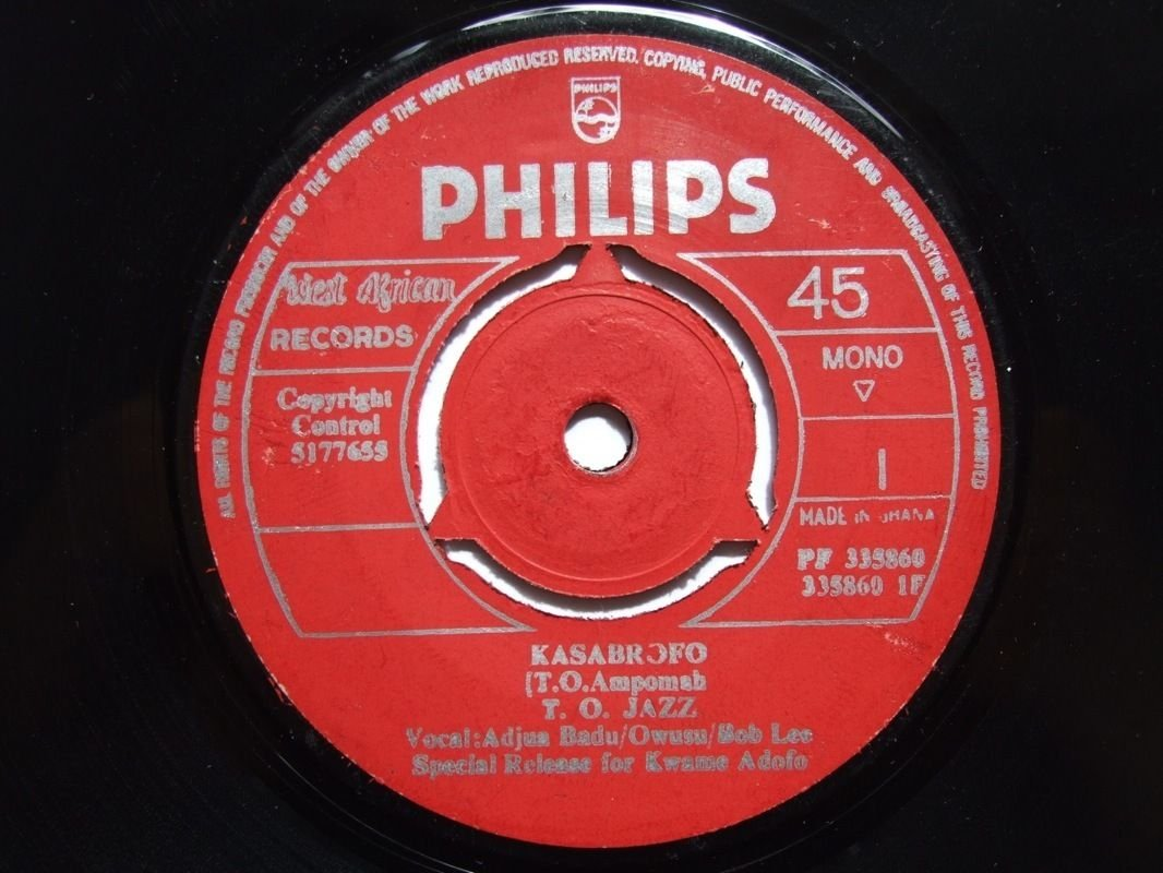 "TO JAZZ kasabrofo 7"" HIGHLIFE 60's GHANA � mp3 listen"