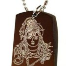 Hindu Lord Shiva GOD of Destruction and Change - Dog Tag w/ Metal Chain Necklace