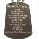 Holy Serenity Prayer Christian Christ Religion - Dog Tag w/ Metal Chain Necklace