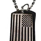 USA America United States of America Flag  - Dog Tag w/ Metal Chain Necklace