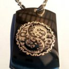 Dragon YIN Yang Tribal Chinese Asian Logo - Dog Tag w/ Metal Chain Necklace