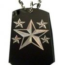Nautical Water Sea Ocean Stars Logo - Dog Tag w/ Metal Chain Necklace