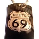 Military Dog Tag Metal Chain Necklace - Route 69 Novelty Funny Sexy Street Sign