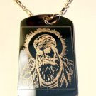 Military Dog Tag Metal Chain Necklace - Sihk Sihkism Waya Guru Nanak Photo