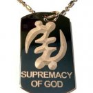 Military Dog Tag Metal Chain Necklace - International Symbol Supremecy of God