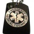 EMT Paramedic Emergency Medical Technician - Dog Tag w/ Metal Chain Necklace