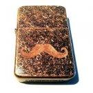 Vector Custom Engraved Butane Lighter - Big Mustache Logo Brown Antique Copper