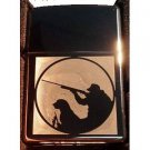 Vector Custom Engraved Butane Lighter - Hunting Duck Fishing with Dog in Field