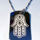 Hand of Mary Mother Jesus Christ Religion - Dog Tag w/ Metal Chain Necklace