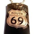 Route 69 Novelty Funny Sexy Street Sign - Dog Tag w/ Metal Chain Necklace