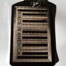 "Bar Code UPC ""Made in America American "" - Dog Tag w/ Metal Chain Necklace"