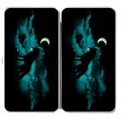 """""""Waning Crescent"""" Night Moon w/ Howling Wolf - Womens Taiga Hinge Wallet Clutch"""