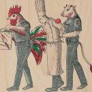 """Murder Chef"" Vegetarian Justice Humor - Plywood Wood Print Poster Wall Art"