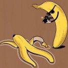 """Murder"" Banana & Peel Homicide Crime Scene - Plywood Wood Print Poster Wall Art"