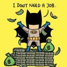 """Part-Time Job No Job"" Funny Comic Parody - Plywood Wood Print Poster Wall Art"