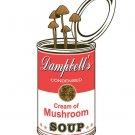 """""""Original"""" Dampbell's Soup Cream Mushroom Parody - Rectangle Refrigerator Magnet"""