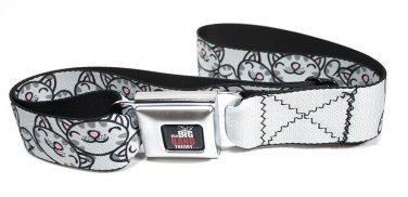 The Big Bang Theory Soft Kitty Poses Gray Adult Seatbelt Belt