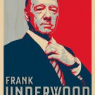 Frank Underwood For President TV Parody - Plywood Wood Print Poster Wall Art