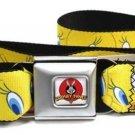 Tweety Bird Looney Toons Buckle Seatbelt Belt
