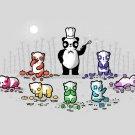 """No Artificial Colorings"" Gummy Bears Roll Fruit w/ Panda - Vinyl Print Poster"