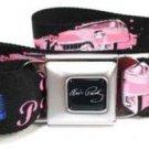 Elvis Presley Seatbelt Belt - Elvis Pose w/ Car & Microphone