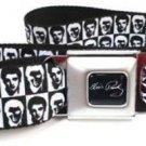 Elvis Presley Seatbelt Belt - Elvis Pose Black & White Contrast