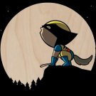 """""""Howling Wolf"""" Comic Super Hero Claw Parody - Plywood Wood Print Poster Wall Art"""