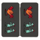 """Zombie Attack"" Rooster Chased by Chickens - Womens Taiga Hinge Wallet Clutch"