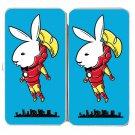 """Bunny Inside"" Comic Hero & Magazine Parody - Womens Taiga Hinge Wallet Clutch"