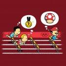 """Hurdles Champion"" Italian Plumber Video Game Parody w/ Mushroom - Vinyl Sticker"