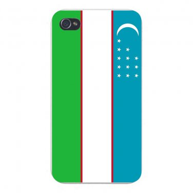 Uzbekistan World Country National Flag - FITS iPhone 5 5s Plastic Snap On Case
