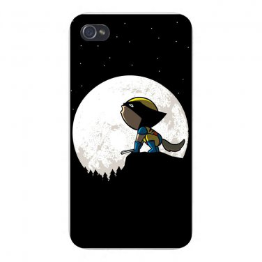 """""""Howling Wolf"""" Comic Super Hero Parody - FITS iPhone 4 4s Plastic Snap On Case"""