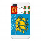 Saint Pierre & Miquelon Country Flag - FITS iPhone 5 5s Plastic Snap On Case